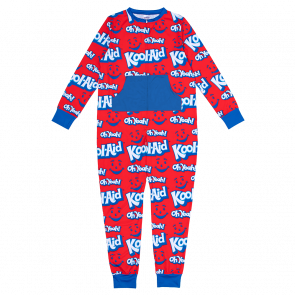 Kool-Aid brand adult red and blue onesie.